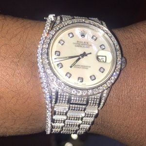 Diamond flooded Date just Rolex